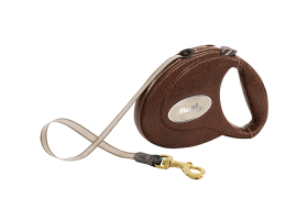 flexi Luxury leather 5m tape leash, 2 colors, for...