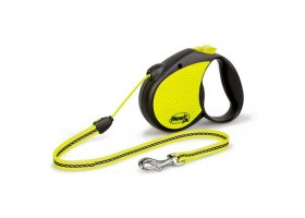 flexi SPECIAL, 5m cord leash, NEON, size M for dogs->20kg